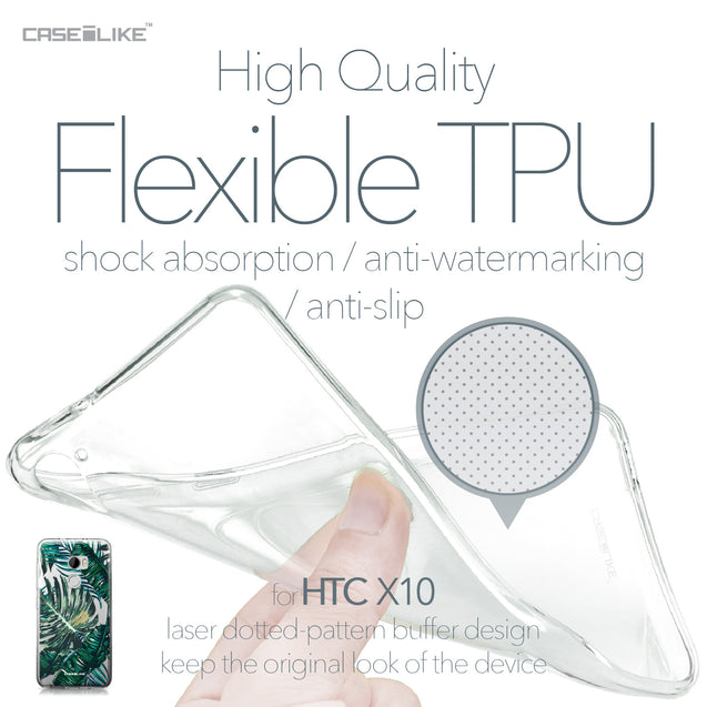 HTC One X10 case Tropical Palm Tree 2238 Soft Gel Silicone Case | CASEiLIKE.com