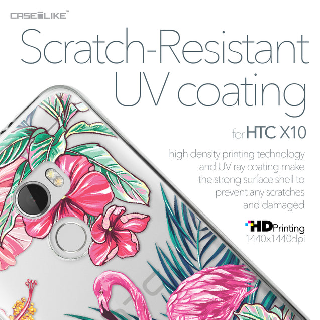 HTC One X10 case Tropical Flamingo 2239 with UV-Coating Scratch-Resistant Case | CASEiLIKE.com