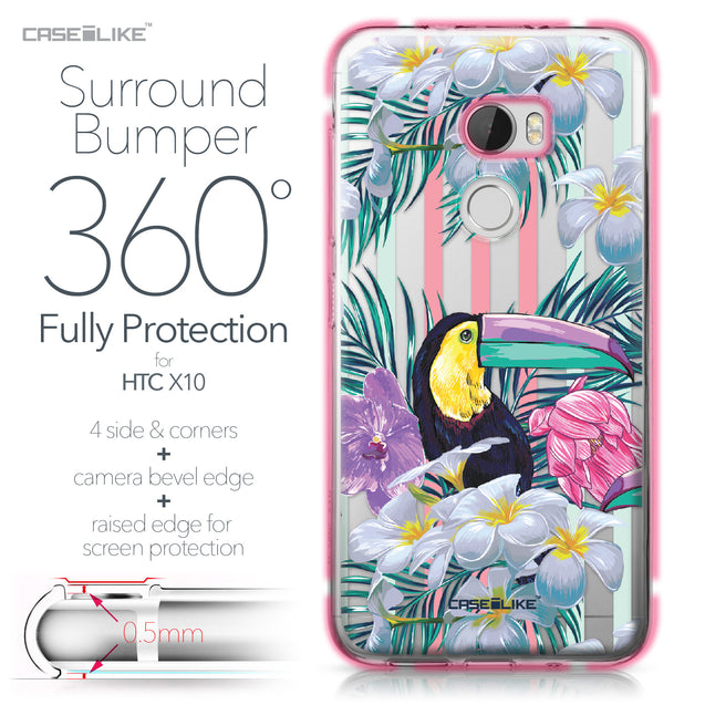 HTC One X10 case Tropical Floral 2240 Bumper Case Protection | CASEiLIKE.com