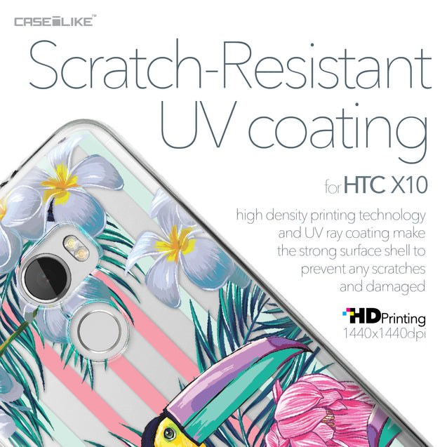 HTC One X10 case Tropical Floral 2240 with UV-Coating Scratch-Resistant Case | CASEiLIKE.com