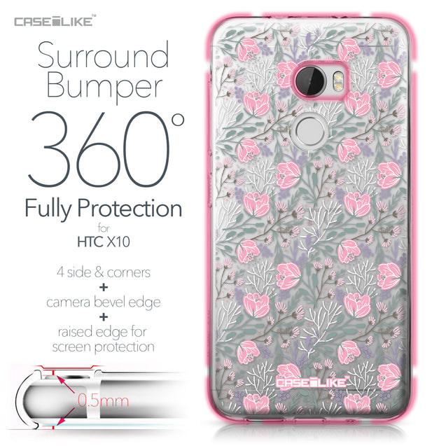 HTC One X10 case Flowers Herbs 2246 Bumper Case Protection | CASEiLIKE.com