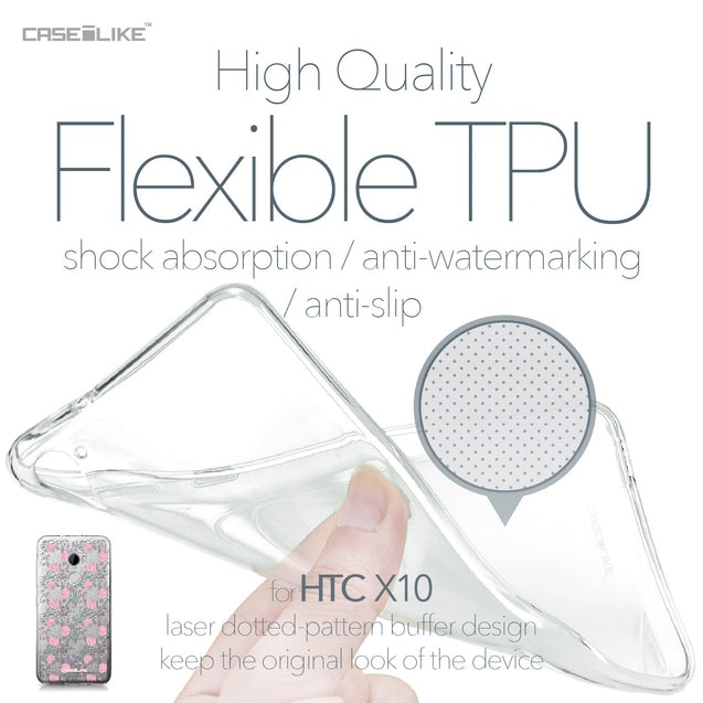 HTC One X10 case Flowers Herbs 2246 Soft Gel Silicone Case | CASEiLIKE.com