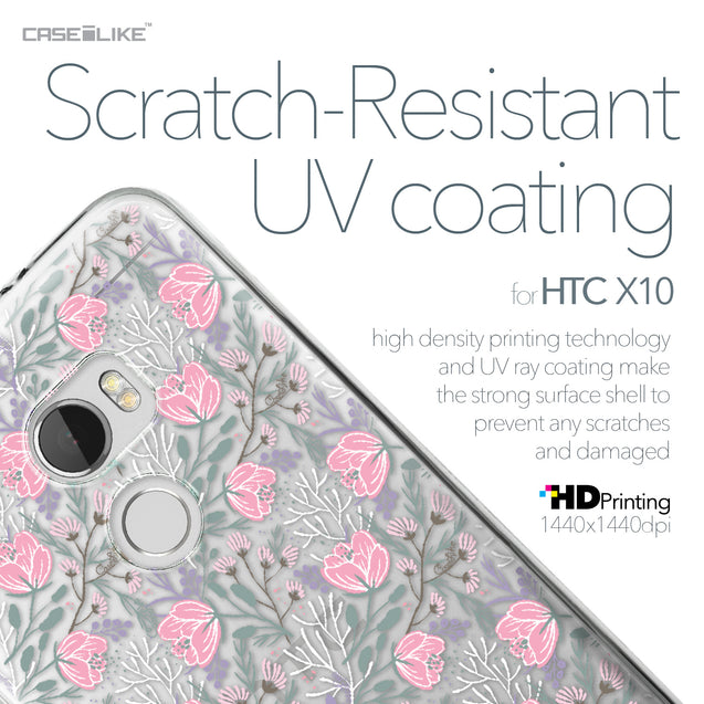 HTC One X10 case Flowers Herbs 2246 with UV-Coating Scratch-Resistant Case | CASEiLIKE.com