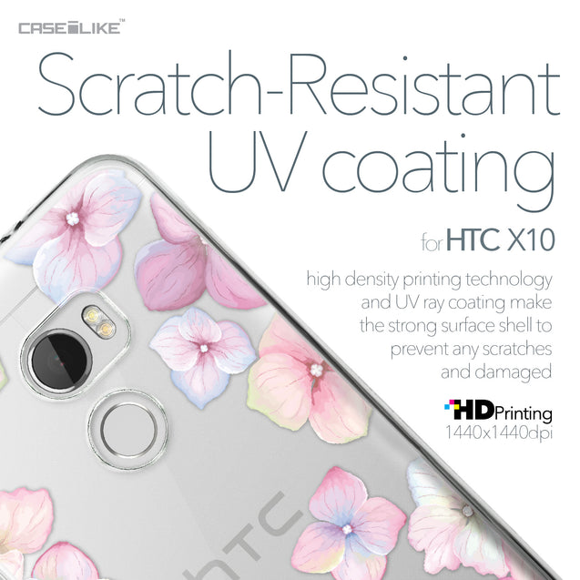 HTC One X10 case Hydrangea 2257 with UV-Coating Scratch-Resistant Case | CASEiLIKE.com