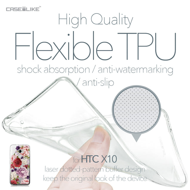 HTC One X10 case Mixed Roses 2259 Soft Gel Silicone Case | CASEiLIKE.com