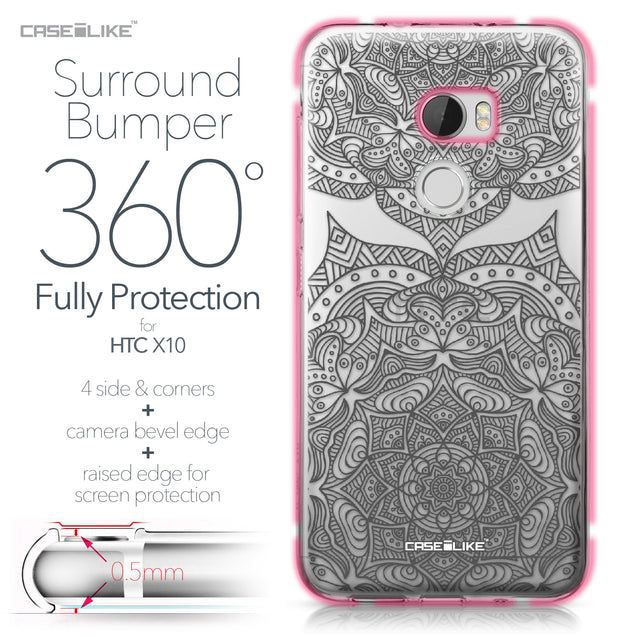 HTC One X10 case Mandala Art 2304 Bumper Case Protection | CASEiLIKE.com