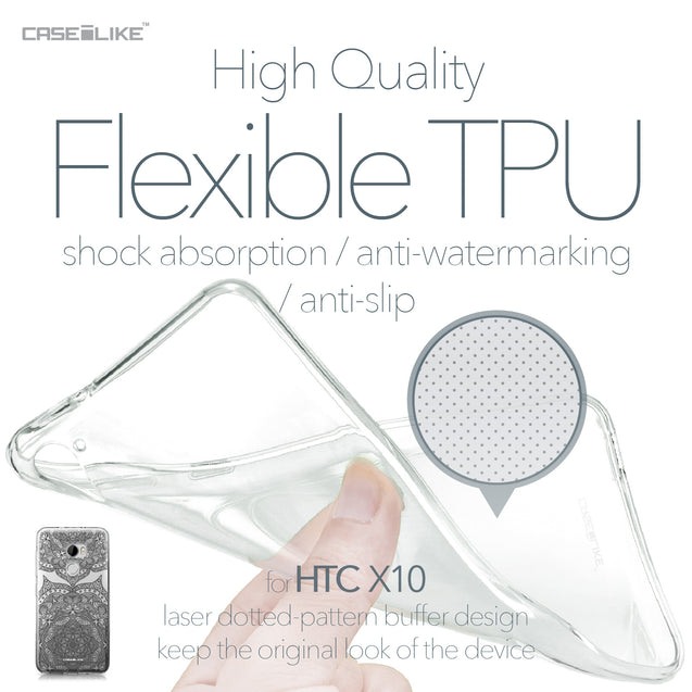 HTC One X10 case Mandala Art 2304 Soft Gel Silicone Case | CASEiLIKE.com