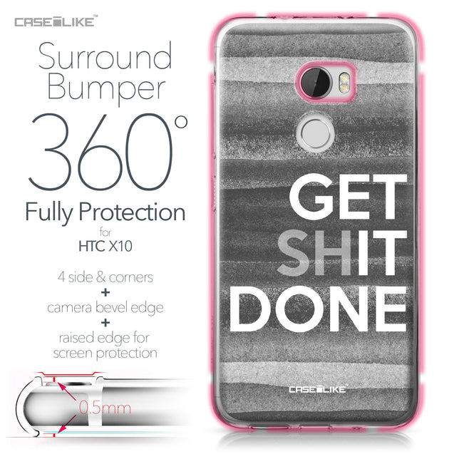 HTC One X10 case Quote 2429 Bumper Case Protection | CASEiLIKE.com
