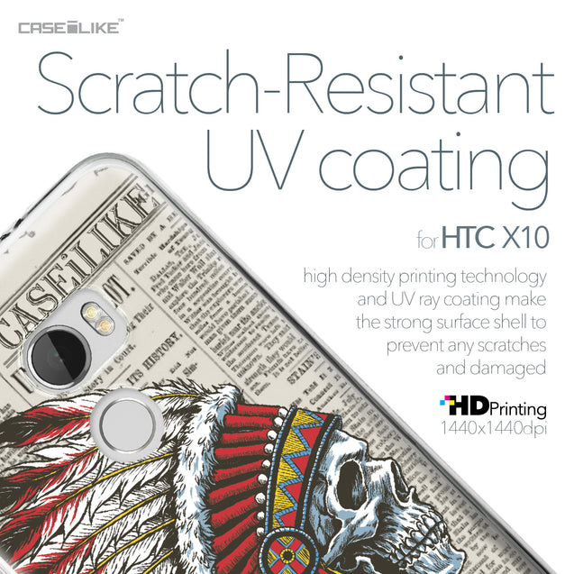 HTC One X10 case Art of Skull 2522 with UV-Coating Scratch-Resistant Case | CASEiLIKE.com