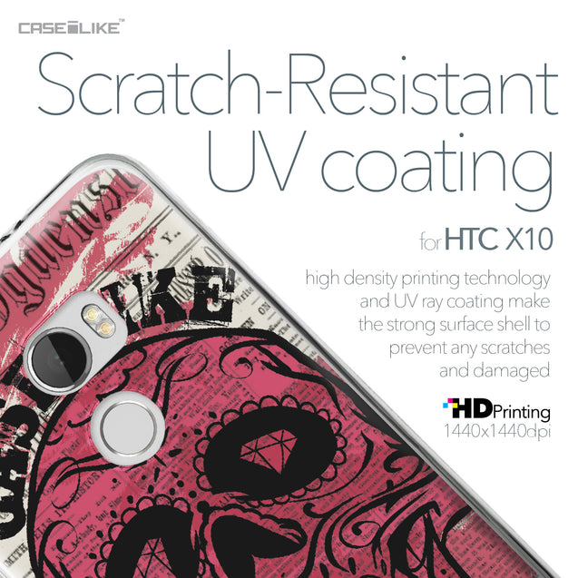 HTC One X10 case Art of Skull 2523 with UV-Coating Scratch-Resistant Case | CASEiLIKE.com