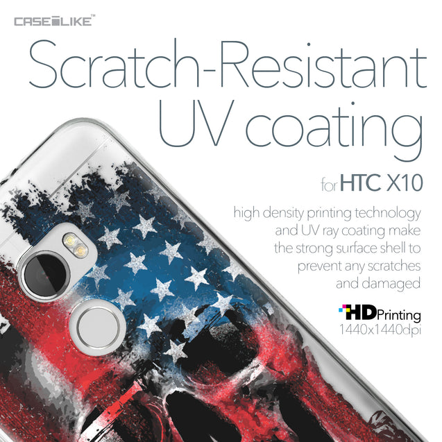 HTC One X10 case Art of Skull 2532 with UV-Coating Scratch-Resistant Case | CASEiLIKE.com