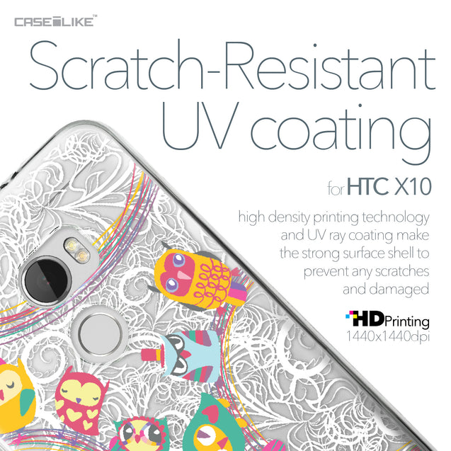 HTC One X10 case Owl Graphic Design 3316 with UV-Coating Scratch-Resistant Case | CASEiLIKE.com