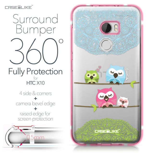 HTC One X10 case Owl Graphic Design 3318 Bumper Case Protection | CASEiLIKE.com