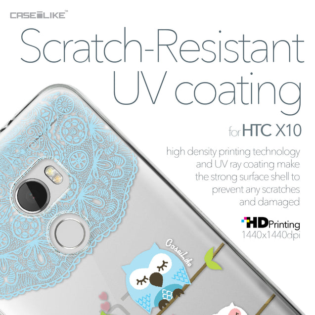 HTC One X10 case Owl Graphic Design 3318 with UV-Coating Scratch-Resistant Case | CASEiLIKE.com