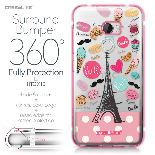 HTC One X10 case Paris Holiday 3904 Bumper Case Protection | CASEiLIKE.com
