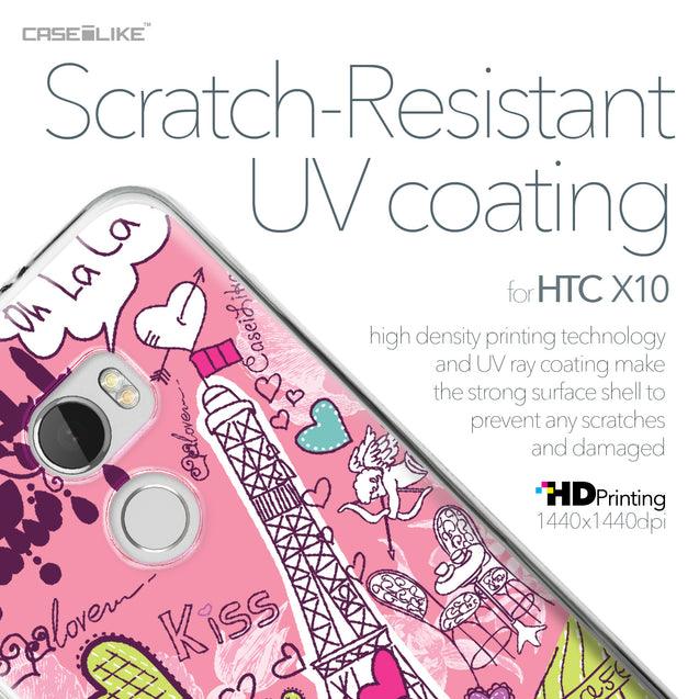 HTC One X10 case Paris Holiday 3905 with UV-Coating Scratch-Resistant Case | CASEiLIKE.com