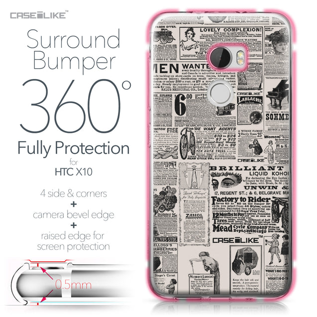 HTC One X10 case Vintage Newspaper Advertising 4818 Bumper Case Protection | CASEiLIKE.com