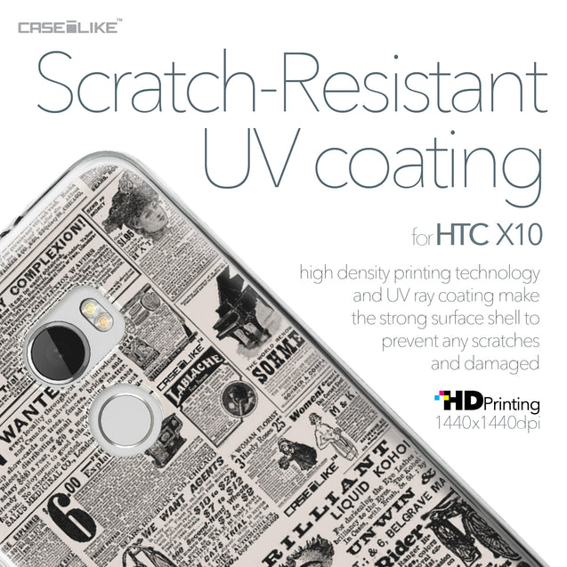 HTC One X10 case Vintage Newspaper Advertising 4818 with UV-Coating Scratch-Resistant Case | CASEiLIKE.com