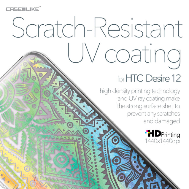 HTC Desire 12 case Indian Line Art 2064 with UV-Coating Scratch-Resistant Case | CASEiLIKE.com