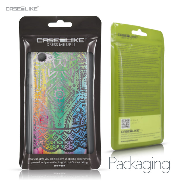 HTC Desire 12 case Indian Line Art 2064 Retail Packaging | CASEiLIKE.com