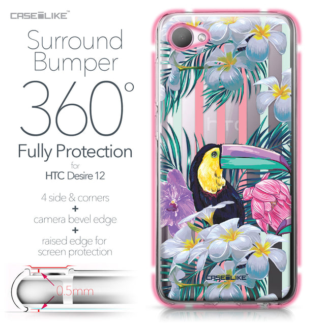 HTC Desire 12 case Tropical Floral 2240 Bumper Case Protection | CASEiLIKE.com