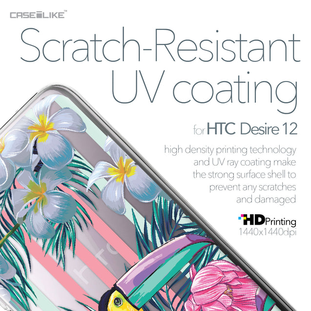 HTC Desire 12 case Tropical Floral 2240 with UV-Coating Scratch-Resistant Case | CASEiLIKE.com
