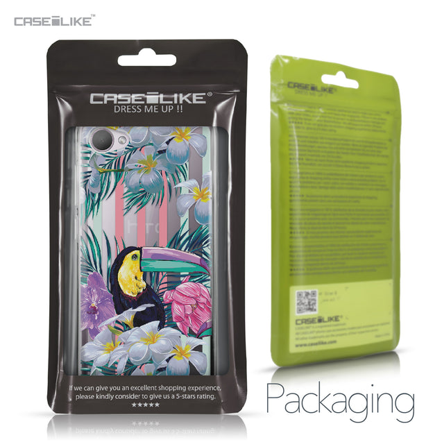 HTC Desire 12 case Tropical Floral 2240 Retail Packaging | CASEiLIKE.com