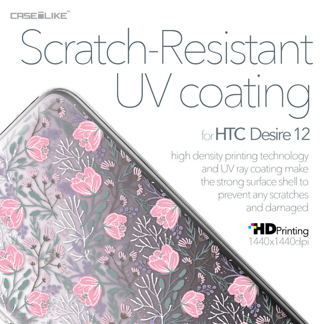 HTC Desire 12 case Flowers Herbs 2246 with UV-Coating Scratch-Resistant Case | CASEiLIKE.com