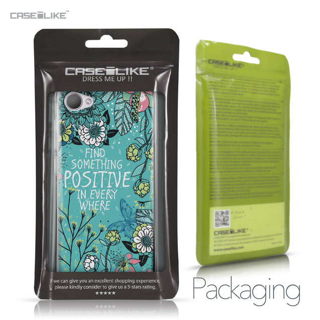 HTC Desire 12 case Blooming Flowers Turquoise 2249 Retail Packaging | CASEiLIKE.com
