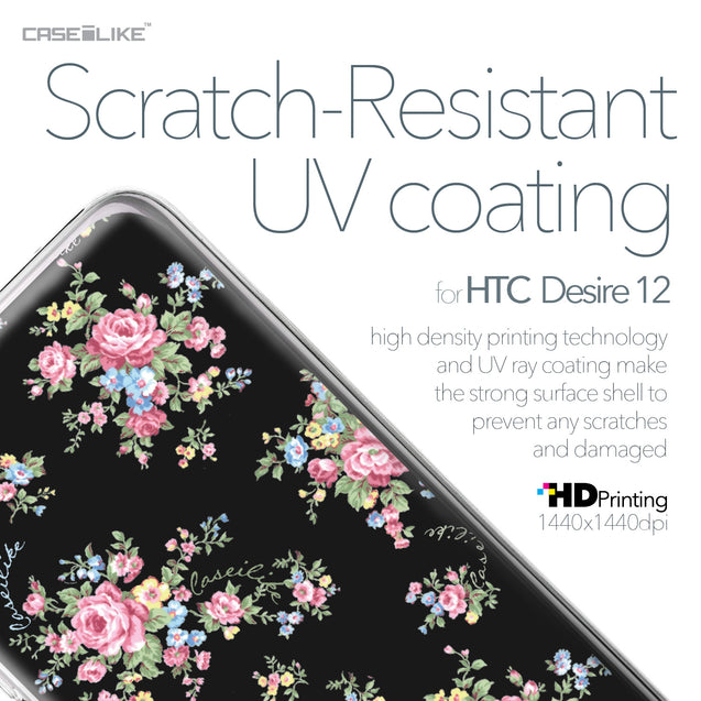 HTC Desire 12 case Floral Rose Classic 2261 with UV-Coating Scratch-Resistant Case | CASEiLIKE.com