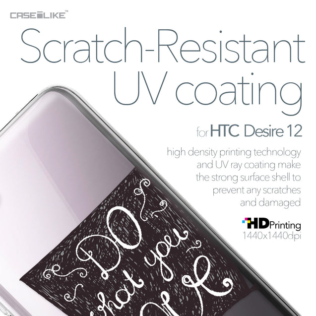 HTC Desire 12 case Quote 2400 with UV-Coating Scratch-Resistant Case | CASEiLIKE.com