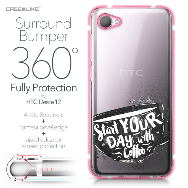 HTC Desire 12 case Quote 2402 Bumper Case Protection | CASEiLIKE.com