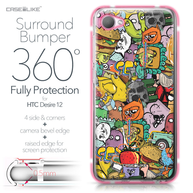 HTC Desire 12 case Graffiti 2731 Bumper Case Protection | CASEiLIKE.com