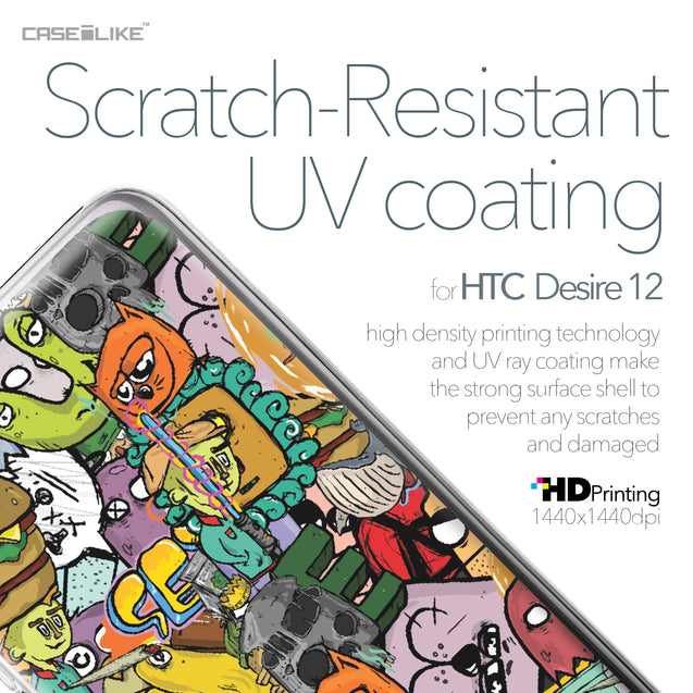 HTC Desire 12 case Graffiti 2731 with UV-Coating Scratch-Resistant Case | CASEiLIKE.com