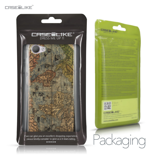 HTC Desire 12 case World Map Vintage 4608 Retail Packaging | CASEiLIKE.com