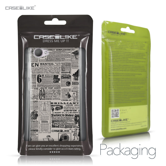 HTC Desire 12 case Vintage Newspaper Advertising 4818 Retail Packaging | CASEiLIKE.com