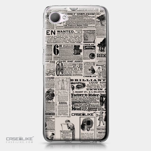 HTC Desire 12 case Vintage Newspaper Advertising 4818 | CASEiLIKE.com