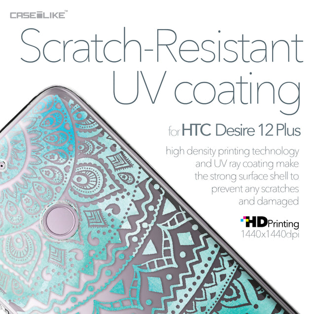 HTC Desire 12 Plus case Indian Line Art 2066 with UV-Coating Scratch-Resistant Case | CASEiLIKE.com