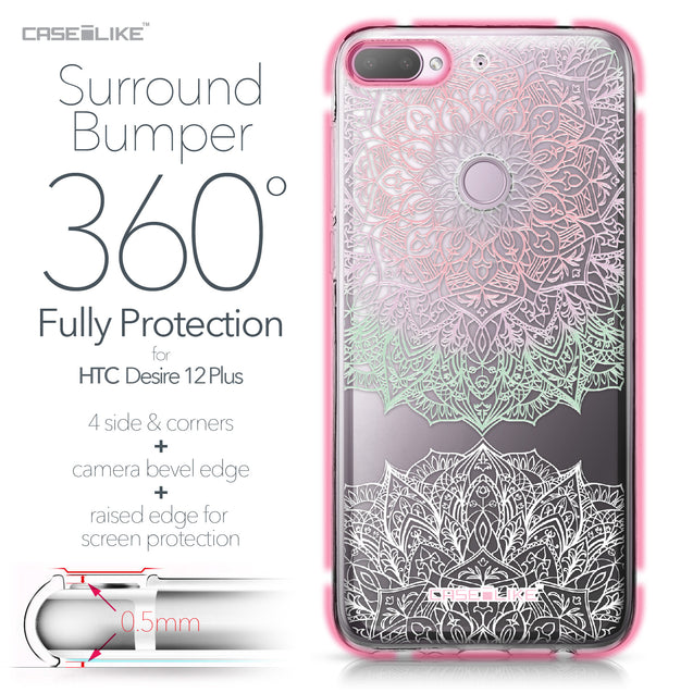 HTC Desire 12 Plus case Mandala Art 2092 Bumper Case Protection | CASEiLIKE.com