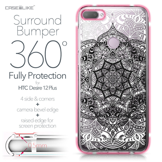 HTC Desire 12 Plus case Mandala Art 2097 Bumper Case Protection | CASEiLIKE.com