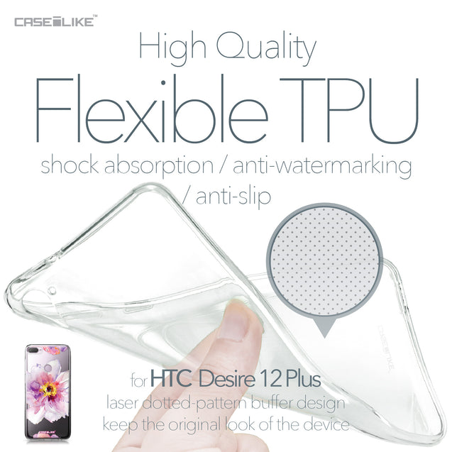 HTC Desire 12 Plus case Watercolor Floral 2231 Soft Gel Silicone Case | CASEiLIKE.com