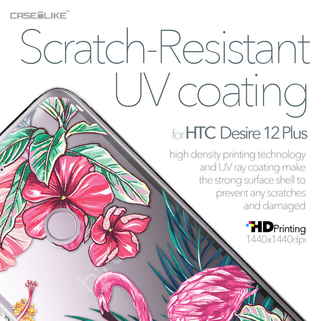 HTC Desire 12 Plus case Tropical Flamingo 2239 with UV-Coating Scratch-Resistant Case | CASEiLIKE.com
