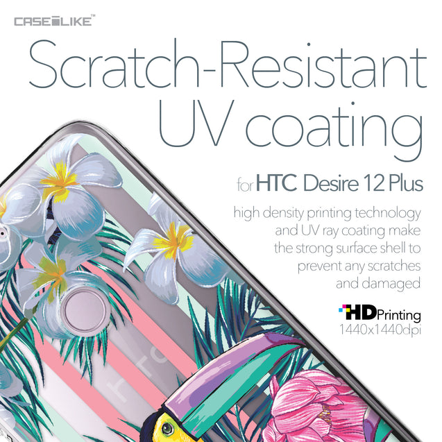 HTC Desire 12 Plus case Tropical Floral 2240 with UV-Coating Scratch-Resistant Case | CASEiLIKE.com