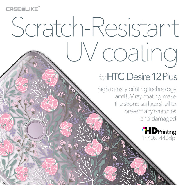 HTC Desire 12 Plus case Flowers Herbs 2246 with UV-Coating Scratch-Resistant Case | CASEiLIKE.com