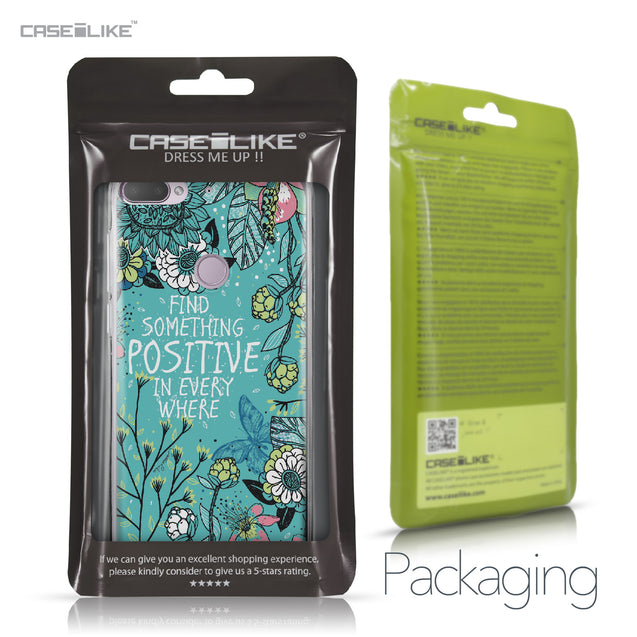HTC Desire 12 Plus case Blooming Flowers Turquoise 2249 Retail Packaging | CASEiLIKE.com