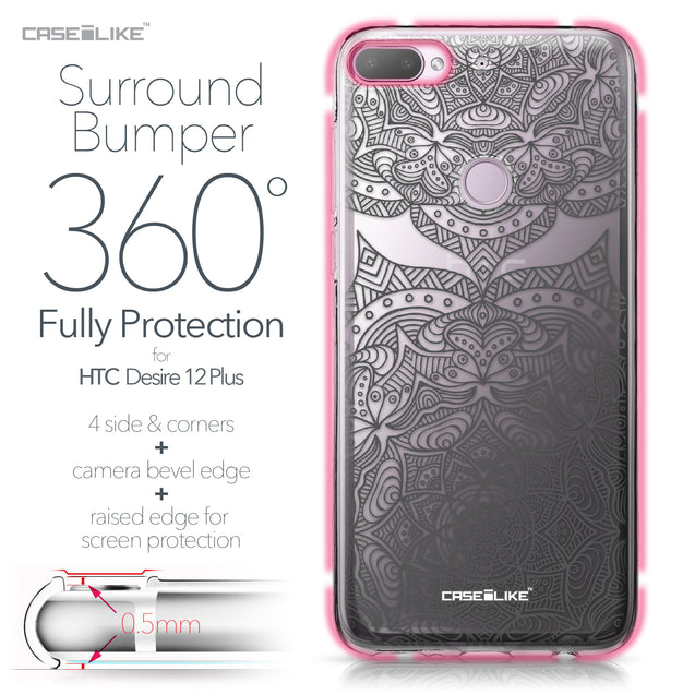 HTC Desire 12 Plus case Mandala Art 2304 Bumper Case Protection | CASEiLIKE.com