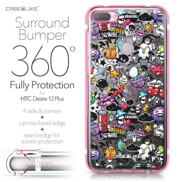 HTC Desire 12 Plus case Graffiti 2703 Bumper Case Protection | CASEiLIKE.com