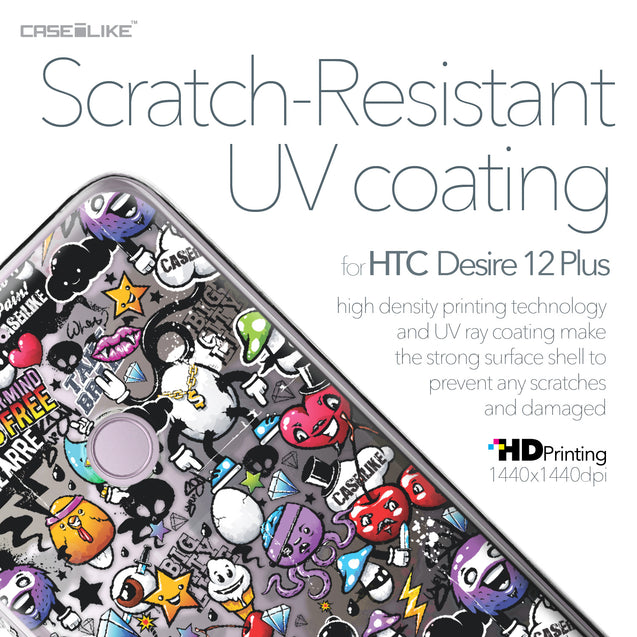HTC Desire 12 Plus case Graffiti 2703 with UV-Coating Scratch-Resistant Case | CASEiLIKE.com