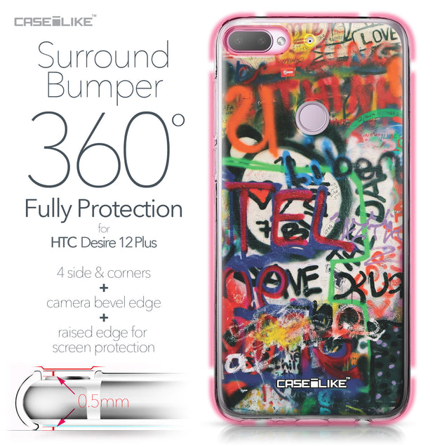 HTC Desire 12 Plus case Graffiti 2721 Bumper Case Protection | CASEiLIKE.com
