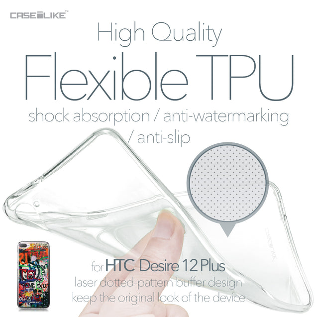 HTC Desire 12 Plus case Graffiti 2721 Soft Gel Silicone Case | CASEiLIKE.com